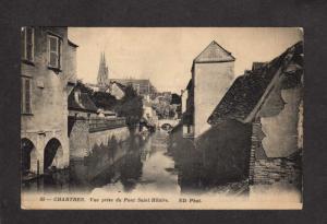 France Chartres Prise du Pont Saint Hilaire Postcard French Carte Postale