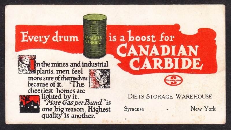 Diets Storage Warehouse – Syrcuse NY – Canadian Carbide blotter