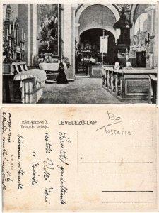 CPA MÁRIABESNY? Templom belseje. ROMANIA (469713)