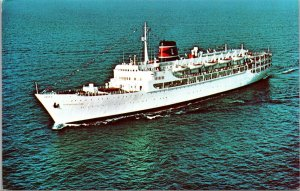 Postcard SS New Bahama Star Eastern Steamship Lines Unposted