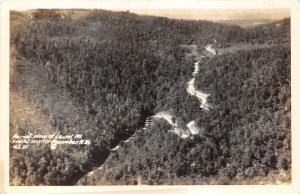 Rowlesburg-Macomber West Virginia~Laurel Mountain Aerial View~US 50~ 1945 RPPC