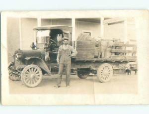 rppc Pre-1930 OLD DELIVERY TRUCK PARKED AT RICHARDSON HOUSE HOTEL AC7808