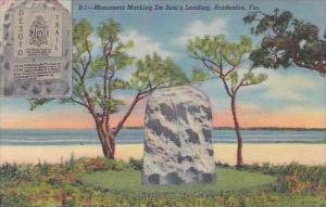 Florida Bradenton Monument Marking De Sotos Landing