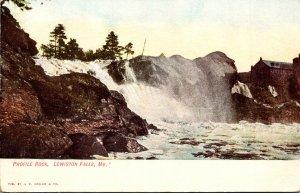 Maine Lewiston Falls Profile Rock