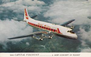 CAPITAL Airlines Viscount Airplane , 1950s