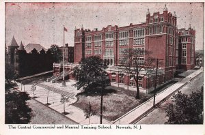Commercial and Manual Training School, Newark, N.J., Early Postcard, Unused