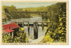 Wolf Street Bridge & Dam , SHERBROOKE , Quebec , Canada , 30-40s