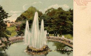 ME - Falmouth Foreside. Spring Park, Fountain