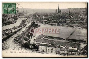 Old Postcard Rouen General view and view the Champ de Mars