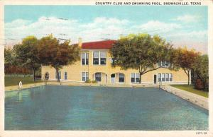 Brownsville Texas Country Club House Swimming Pool Postcard JA4742670