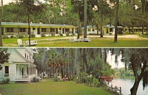 Old Town Florida Suwannee Gables Motel Multiview Vintage Postcard K35823