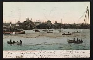 Cramp's Shipyard Philadelphia PA 1906 Souvenir Post Card Co 2366 Glitter