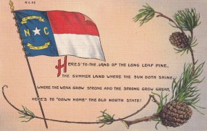 NORTH CAROLINA, 1930-1940s; Poem, North Carolina Flag