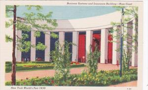 New York World's Fair 1939 Business Systems and Insurance Building Rose Court