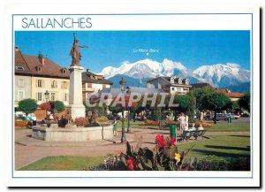 Postcard Modern Sallanches Haute Savoie Place Charles Albert