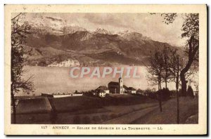 Old Postcard From Annecy Church Severie And Tournette