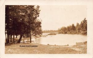 MAINE UNIDENTIFIED PASTORAL LAKE-EARLY 1900'S RPPC REAL POSTCARD