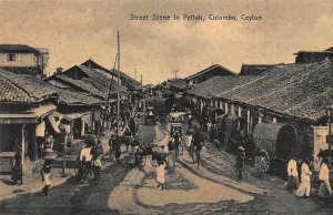 Sri Lanka Ceylon Street Scene in Pettah Colombo Postcard