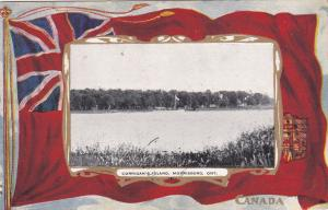 Flag ; Corringan´s Island , MORRISBURG , Ontario , Canada , PU-1908