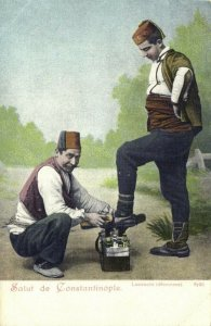 turkey, CONSTANTINOPLE, Cobbler, Lustrachi, Cordonnier (1899) Postcard