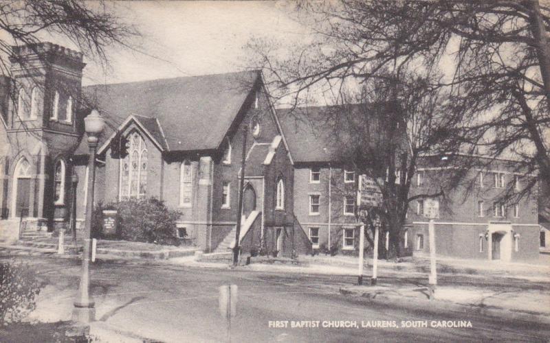 First Baptist Church , LAURENS , South Carolina, 1950s