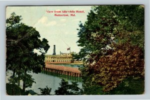 Betterton MD-Maryland, View from Idlewhile Hotel, Vintage Postcard