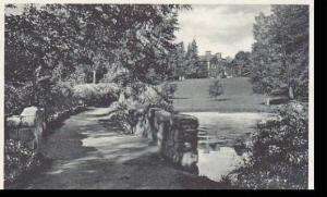Massachusetts East Northfield Perry Pond Walk  Northfield Seminary Albertype