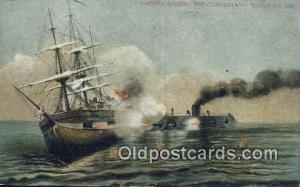 Virginia Sinking In The Cumberland Sail Boat Postcard Post Card  Virginia Sin...