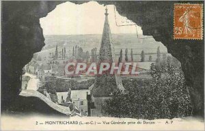 Old Postcard Montrichard (L and C) Vue Generale taken Dungeon