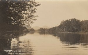RP: WEST BANK PENOBSCOT RIVER , Maine , 1911; Sourdnahunk Mountain
