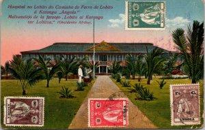 Portuguese Angola Hospital Katanga Multi Franked Postcard used 1927