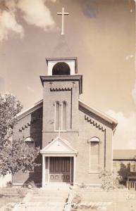 RP: NEBRASKA CITY, 1930-50s; First Brick Church in Nebraska
