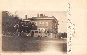 Halstead Kansas~Halstead High School~1909 Real Photo Postcard~RPPC