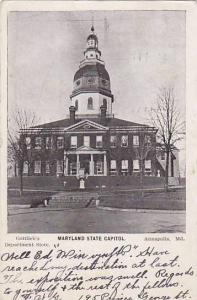 Exterior, Mayland State Capitol, Annapolis, Maryland,   PU-1907