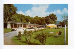 Roscoe NY Roscoe Motel Old Cars Postcard