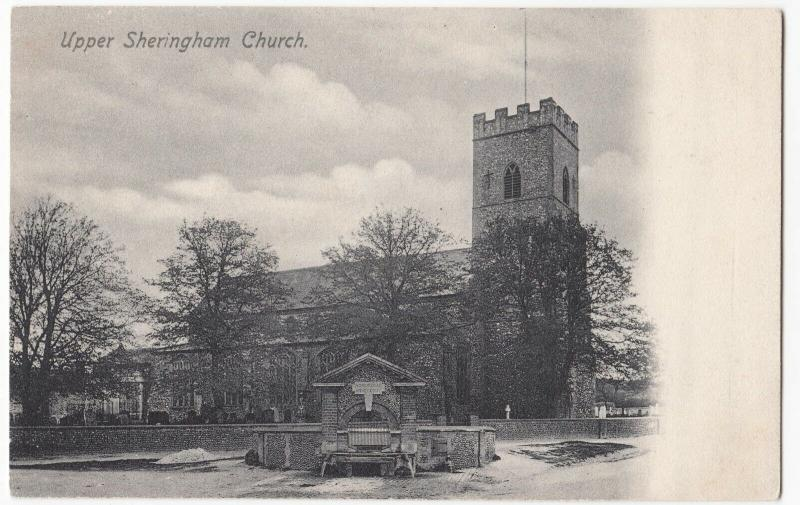Norfolk; Upper Sheringham Church PPC, Unposted, c 1910's