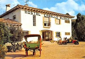 Spain Old Vintage Antique Post Card Hotals Caballo Blanco 1973