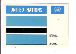 Botswana Flag, United Nations