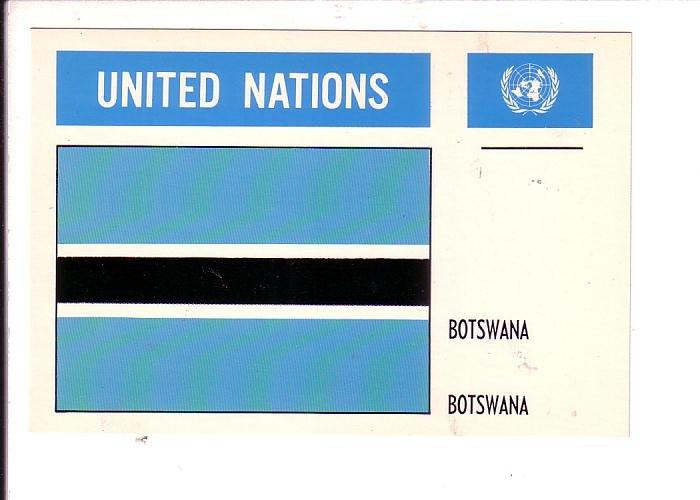 Botswana Flag, United Nations