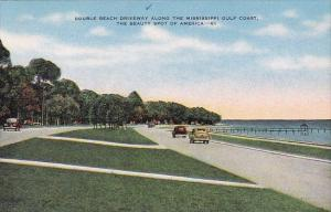 Mississippi Gulfport Double Beach Driveway Along The Mississippi Gulf Coast T...