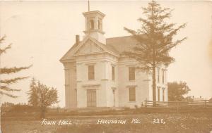 F21/ Harrington Maine RPPC Postcard c1910 Town Hall Building