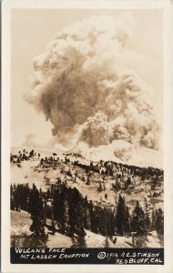 Vulcan's Face Mt. Lassen Eruption CA Unused RE Stinson Real Photo Postcard F34