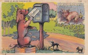 Dog mails a letter , 1930-40s