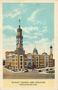 Indianapolis IN Murat Temple and Theatre Postcard