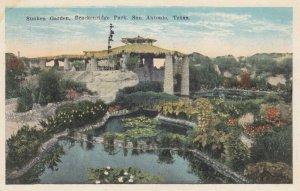 SAN ANTONIO , Texas , 1910s ; Sunken Garden