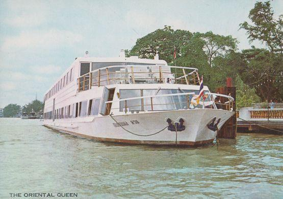 The Oriental Queen Bankok Oriental Hotel Cruise Tourist Boat to Ayudhya Postcard