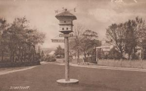 Westcott Bird Cage House Dorking Guildford Road Direction Sign Antique Postcard