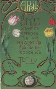 APRIL Tulip Flowers & Diamonds , 00-10s