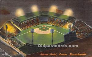Braves Field Boston, MA, USA Stadium Unused light wear on back