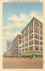 Kansas City Missouri~12th And Main~SS Kresge Five & Dime~Corner~1938 Postcard